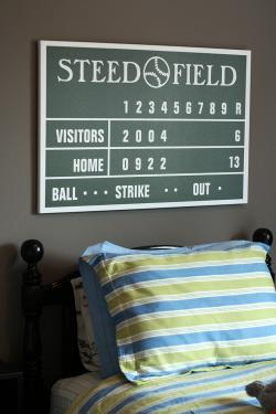 "36"" x 24"" Personalized Scoreboard Wrapped Canvas"