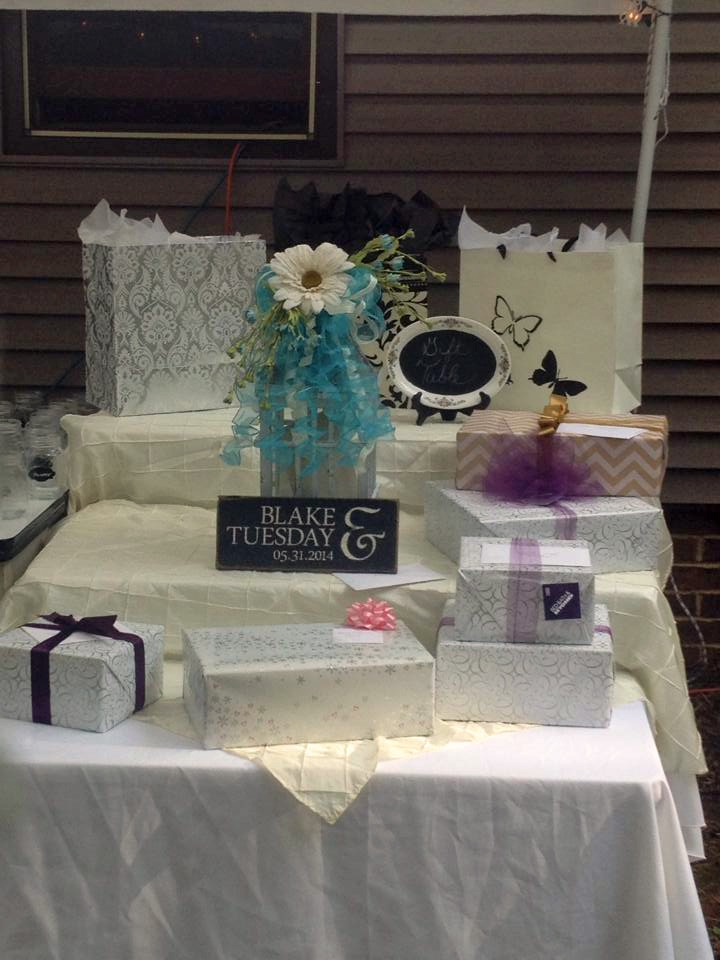 First Names & Wedding Date - Gift Table Decor