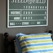 "Personalized Baseball Scoreboard Wrapped Canvas - 24"" x 30"""