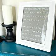 "8"" x 10"" Printable Custom Family Rules Artwork - Metro"