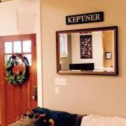 2ft Personalized Sign above mirror