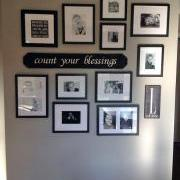 Count Your Blessings 3ft Custom Sign on Gallery Wall