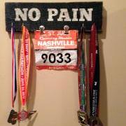 Custom Sign w/Hooks for Runner's Medals and Race Bibs
