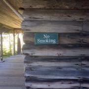 No Smoking Camp Sign
