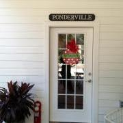 3ft Personalized Sign on Porch Entryway