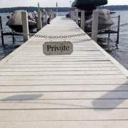 Private Boat Dock Sign