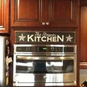 Custom Sign above Stove in Kitchen