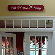 3ft Personalized Sign above doorway
