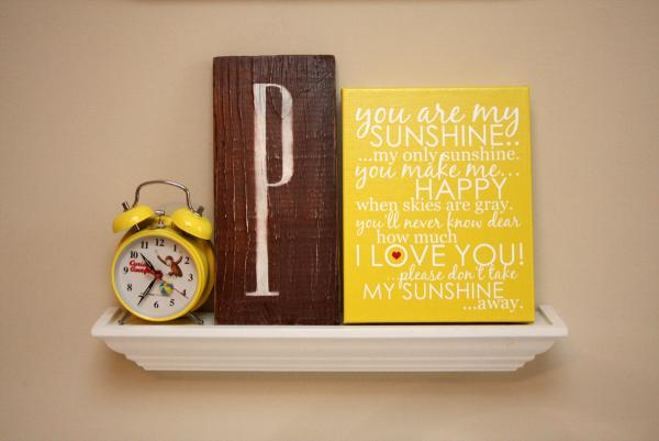 "8"" x 10"" You Are My Sunshine Wrapped Canvas - Yellow"